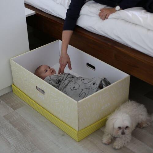box ako prenosna postieľka a hniezdocko