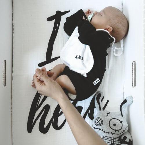 Čierno biela kolekcia oblečenia Slovak Baby Box