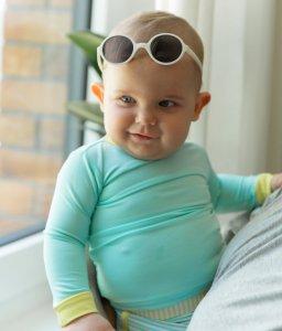 Ochrana detí pred slnkom KiETLA klobucik Panama Pink + plavky