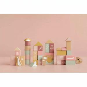 Drevené stavebné kocky v tube. Drevené hračky pre deti Little Dutch.